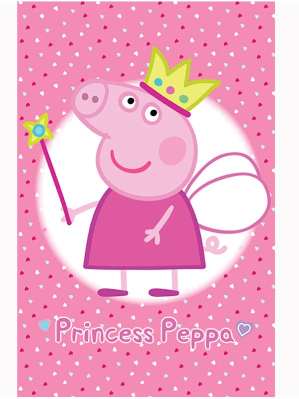 Official Peppa Pig Princess Wall Mural Comes in Six Sections.