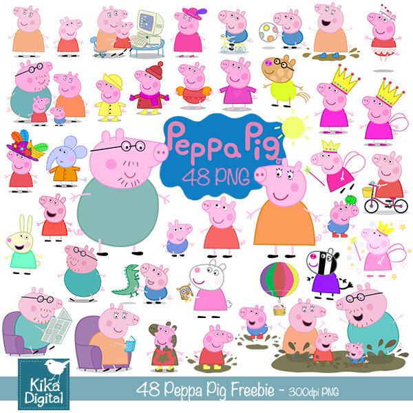 Peppa Pig Clip Art.