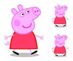 Peppa Pig Television Show Characters.