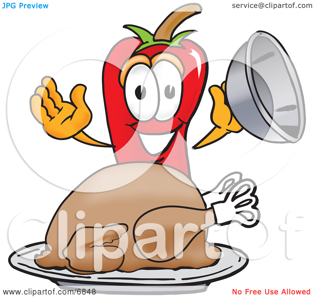 Clipart Picture of a Chili Pepper Mascot Cartoon Character With a.