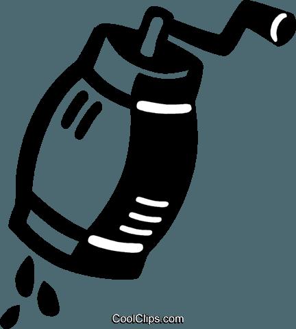 salt/pepper grinder Royalty Free Vector Clip Art.