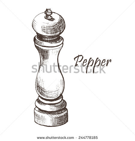 Pepper Mill Stock Photos, Royalty.