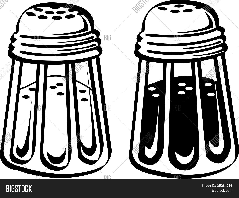 Salt And Pepper Shakers Clip Art Stock Vector & Stock Photos.