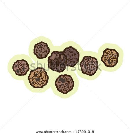 Black Peppercorns Cartoon Vector..