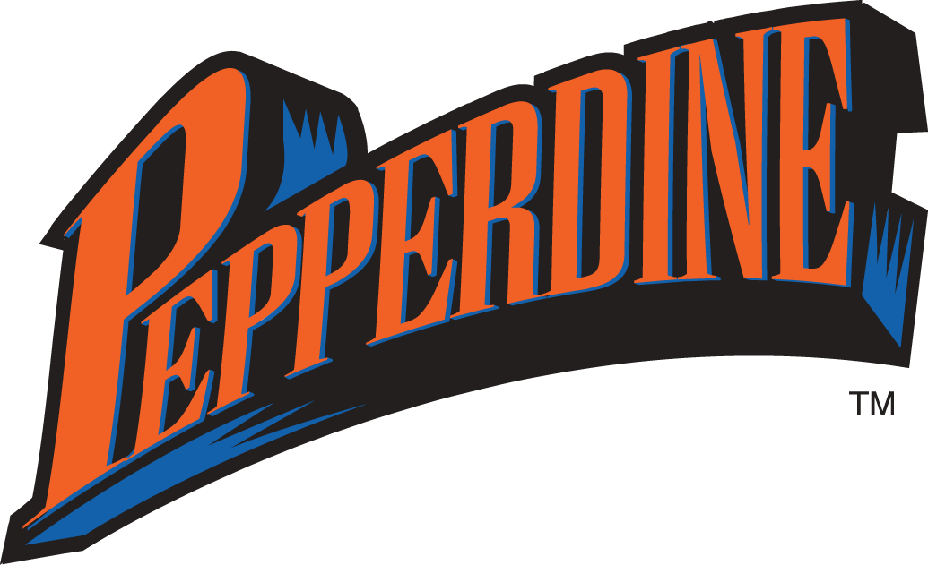 Pepperdine Waves Wordmark Logo.