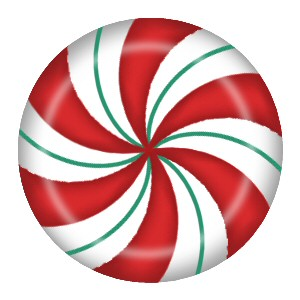 Red And Green Peppermint Candy Clipart.