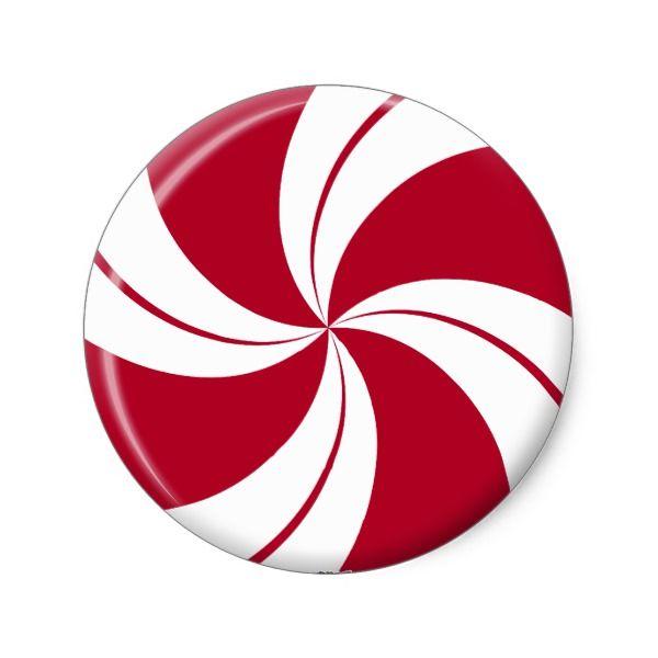 Peppermint Swirl Stripe Candy Classic Round Sticker.
