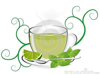 Mint Tea Clipart.
