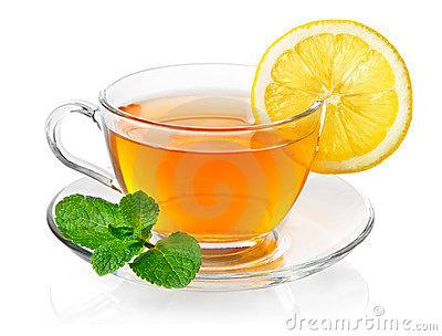 Lemon in tea clipart.