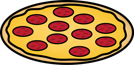 Whole Pepperoni Pizza Clip Art.