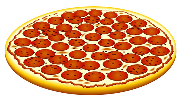 Pepperoni pizza clipart.