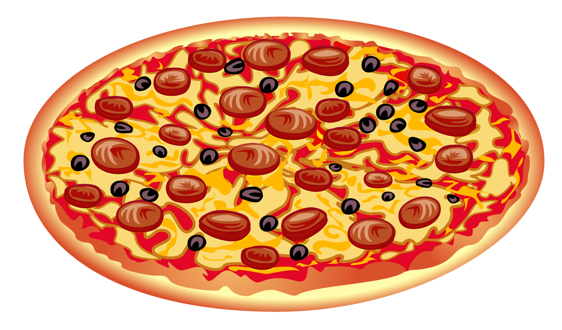 Pepperoni Pizza Clipart transparent PNG.