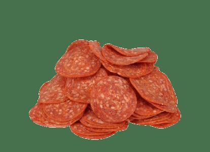 Pile Of Pepperoni Salami Slices transparent PNG.