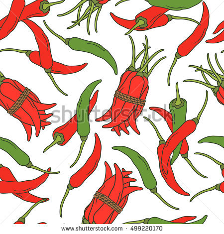 Decorative Red Peppers Stock Photos, Royalty.