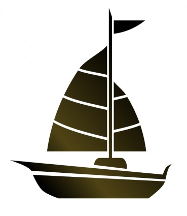 Simple Sailboat Clipart.