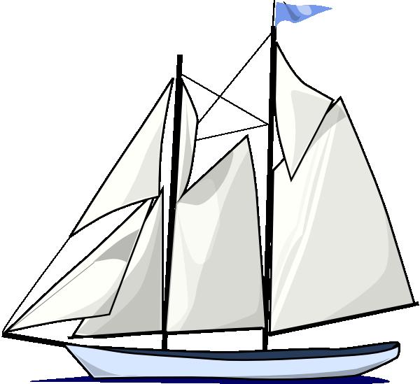 Boat Sail Sideways Clip Art at Clker.com.
