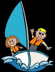 Sailboat With Kids Clip Art at Clker.com.