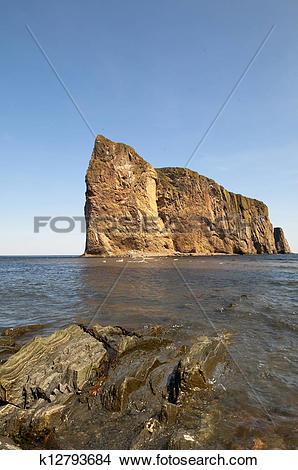 Stock Photo of Perce Rock Scenic k12793684.