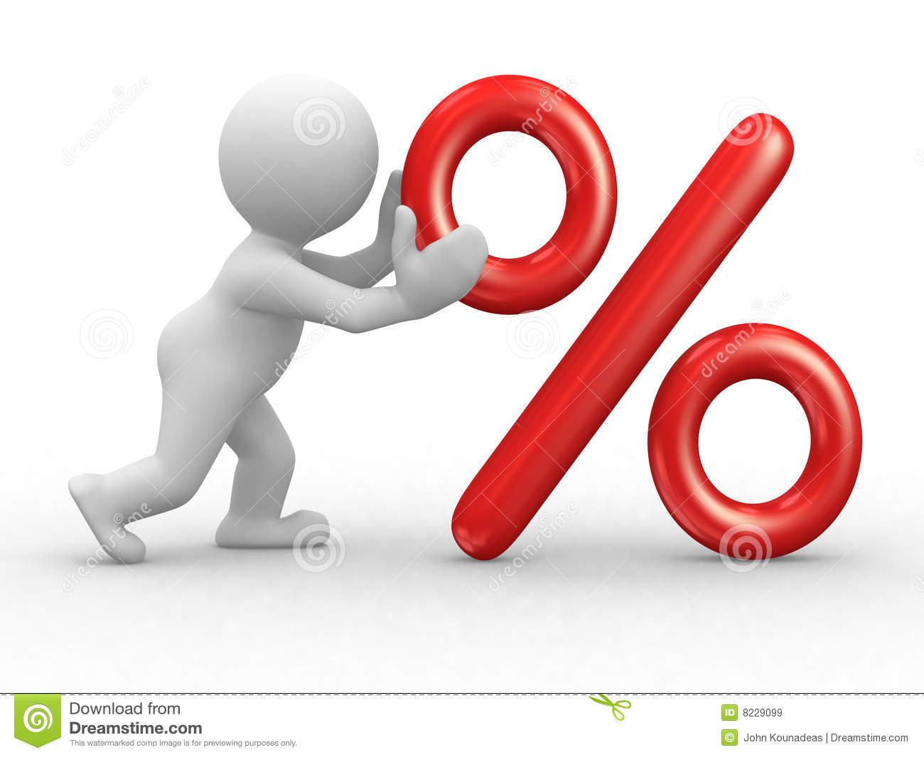 Percent Stock Illustrations.