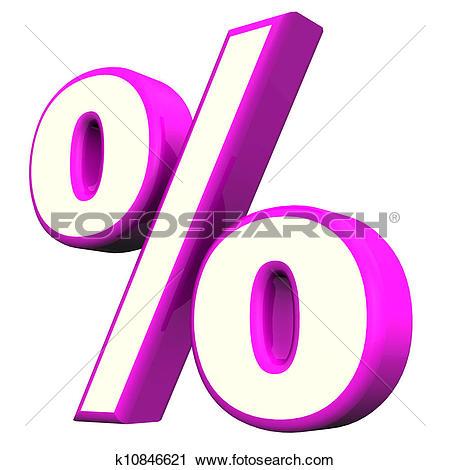 Clipart of Purple Percent Symbol k10846621.
