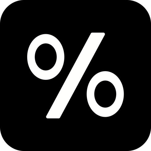 Percentage Vector Icon.