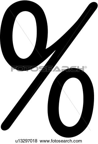 Clip Art of , olde victorian, percent sign, victorian, u13297018.