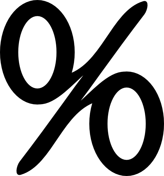 Percentage Sign Clip Art at Clker.com.