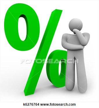 Saving Percentage Clipart.