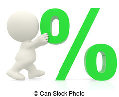Percentages clipart.