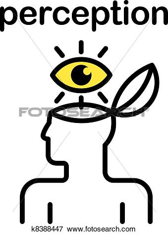 Clip Art of perception icon k8388447.