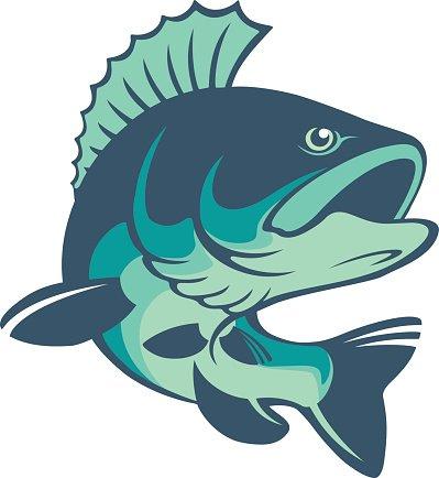 perch fish Clipart Image.