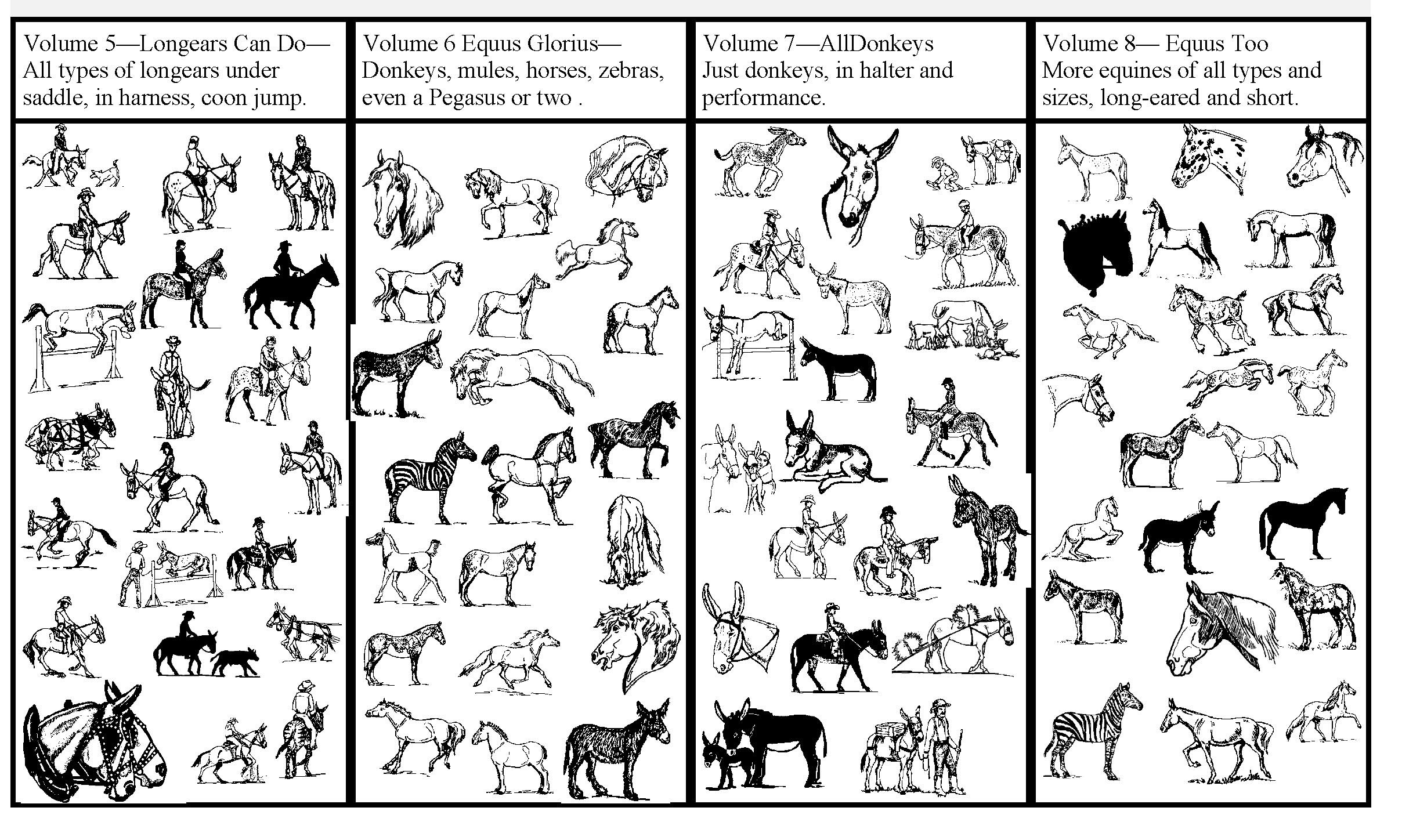 The Shady Donkey Clipart Collections.