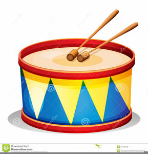 Free Toy Drum Clipart.