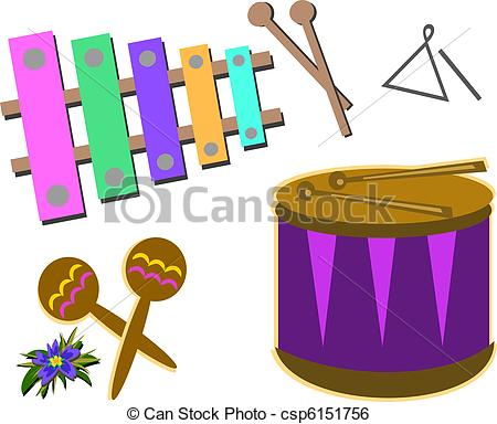 Percussion instrument clipart #11