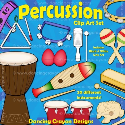 Musical Instruments: Classroom Percussion Instruments Clip Art.