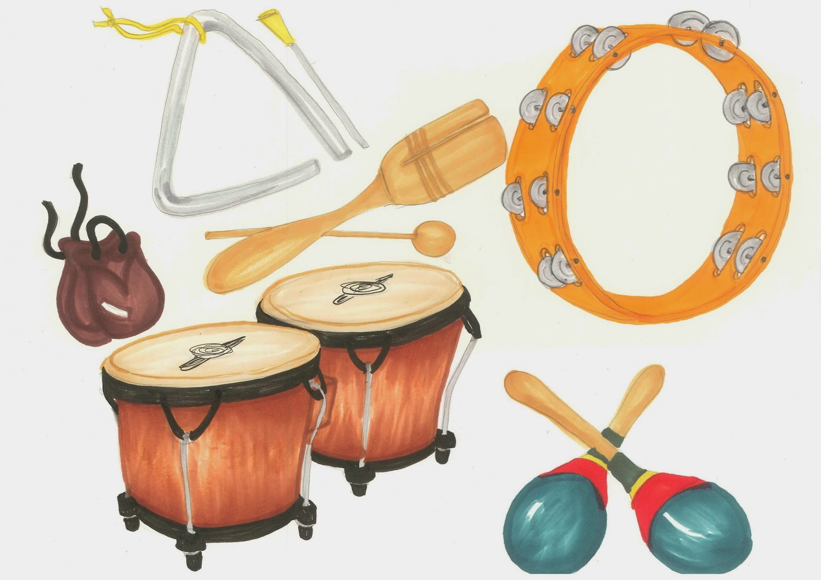 Free Clipart Class Instruments Free.