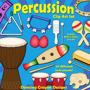 Clipart percussion instruments.