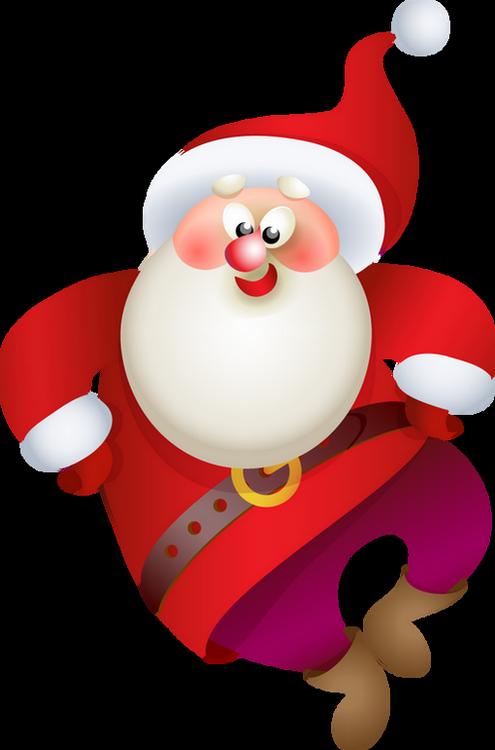 Happy New Year Santa 2017 Clipart.