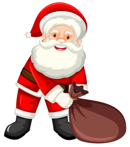 Joyeux Père Noël avec sac.