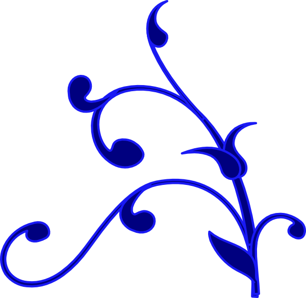 Blue Outline Flower Vine Clip Art at Clker.com.