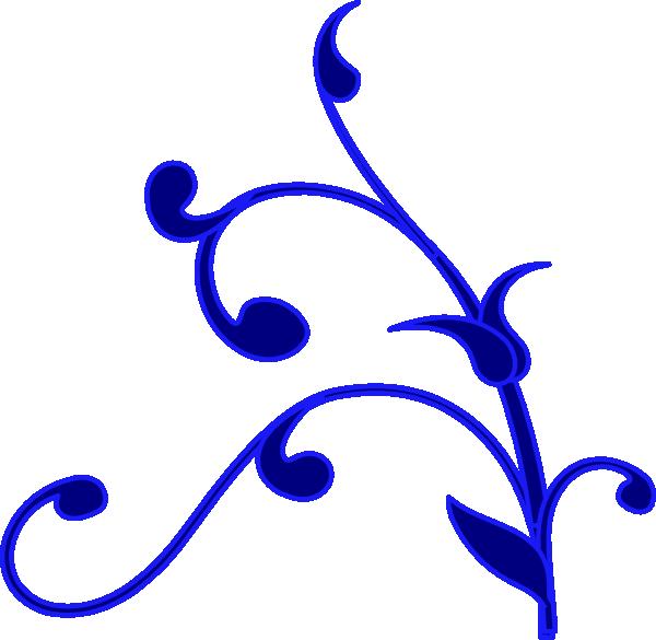 Blue Outline Flower Vine Clip Art at Clker.com.