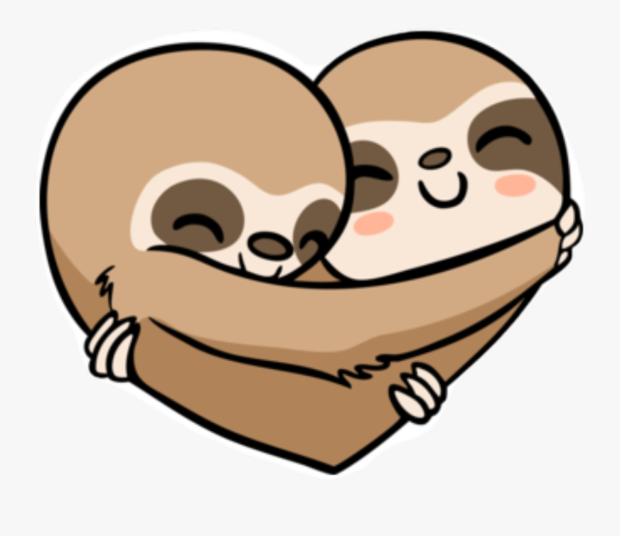 Sloth Heart Clipart , Png Download.