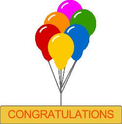 Free Clip Art Congratulations.