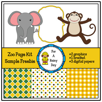 This zoo cover page kit sample freebie is perfect for all kinds of.