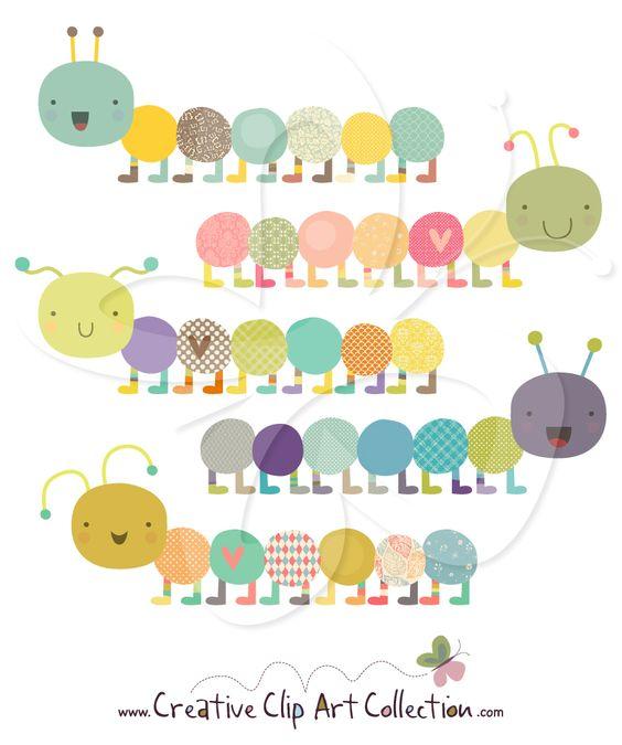 A super #cute #Caterpillar #clipart set from Creative Clip Art.
