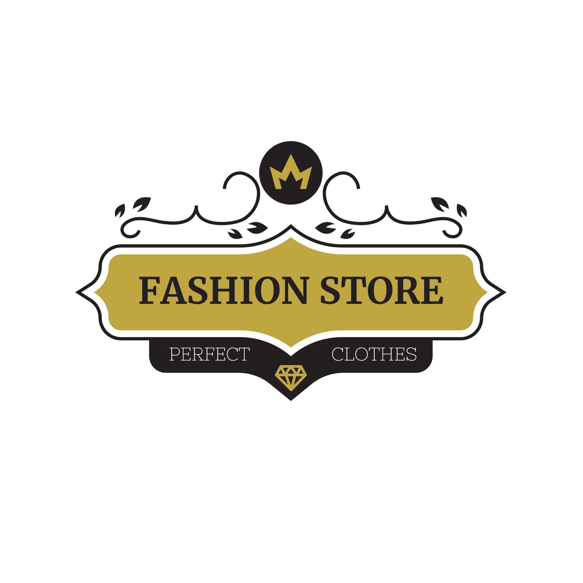 Perfect Fashion Store Logos Template Vl004.