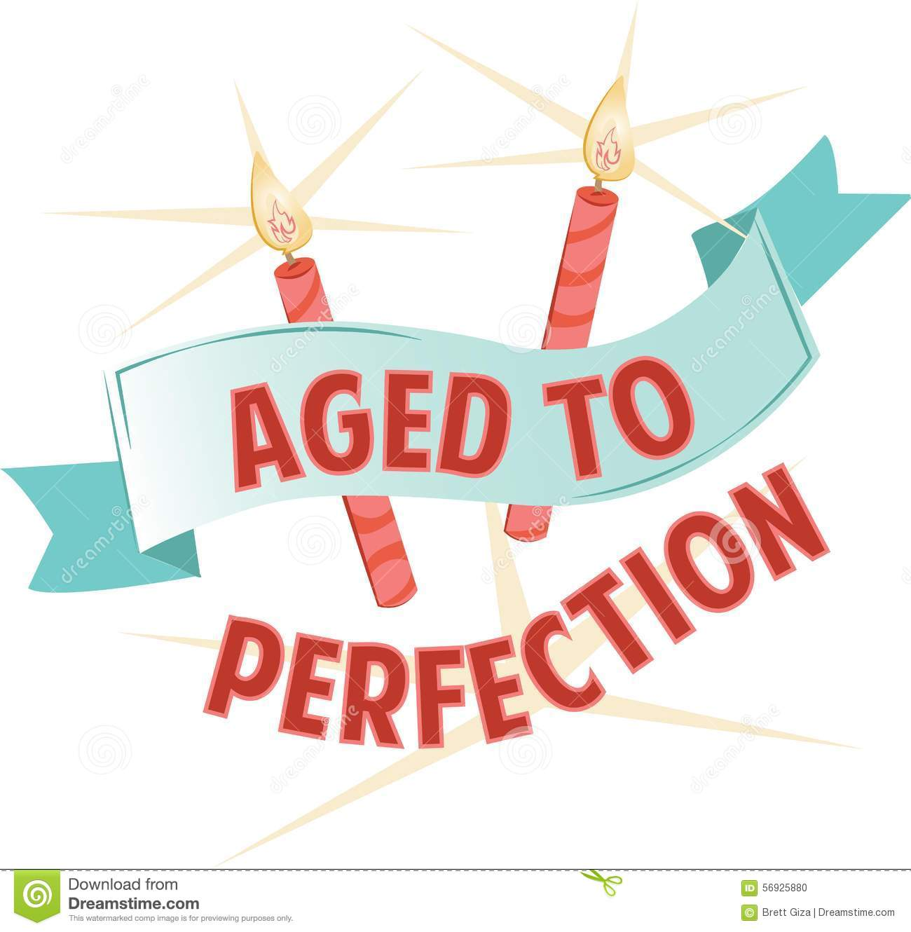 Aged to perfection clipart.