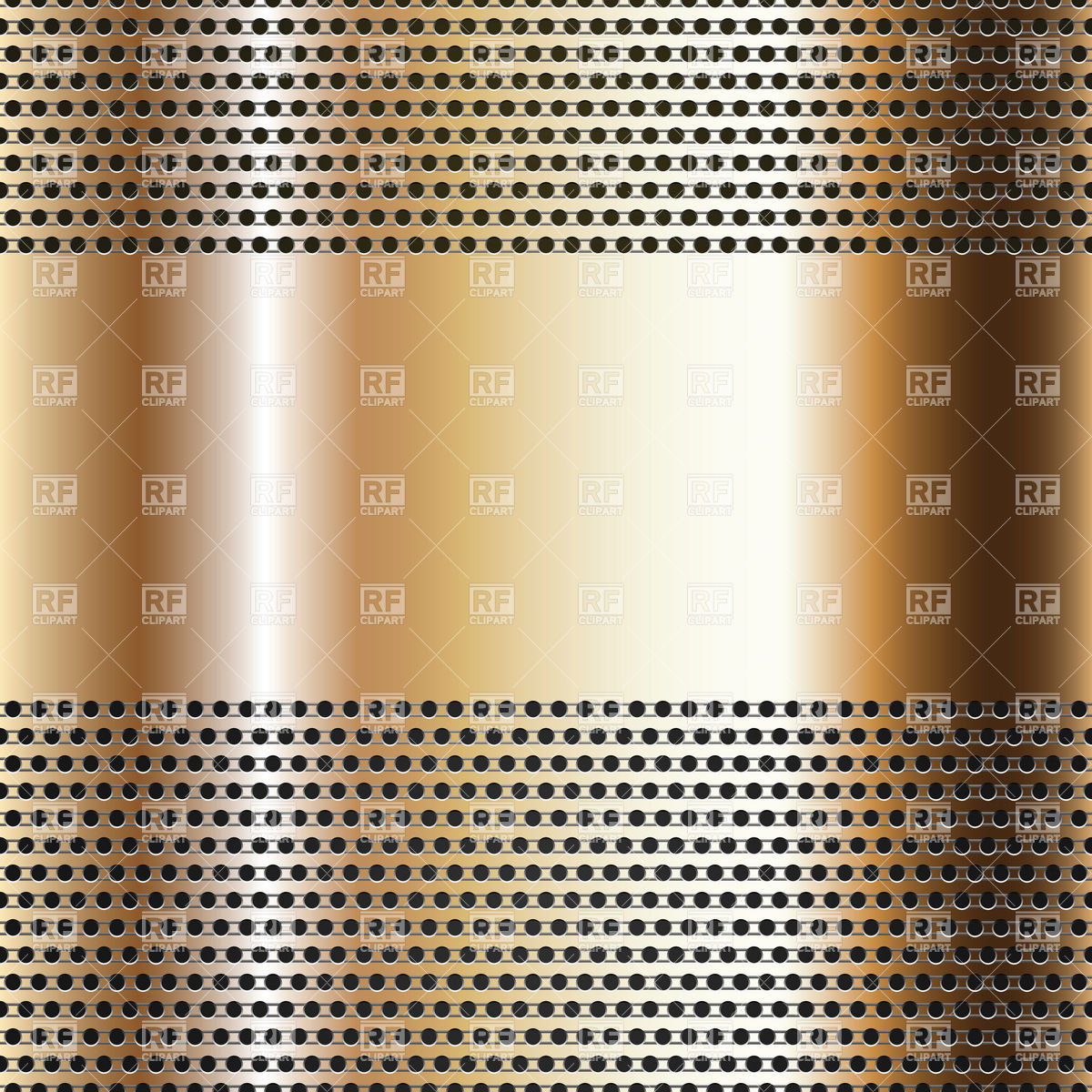 Bronze perforated sheet background Vector Image #18464.
