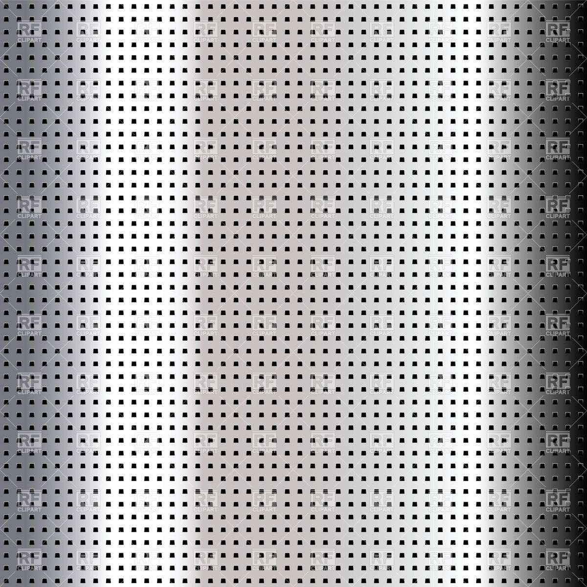 Metallic perforated steel sheet with square holes Vector Image.