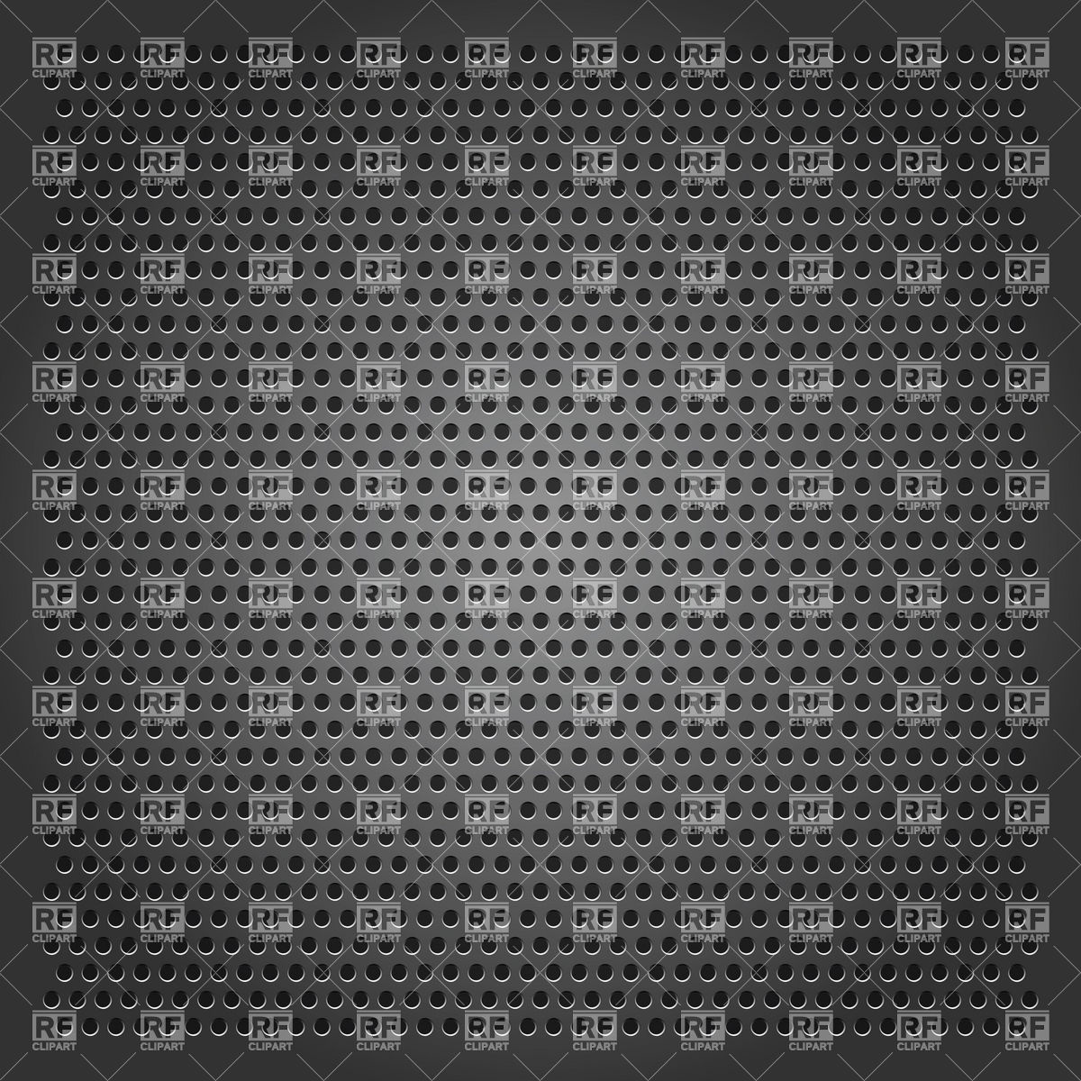 Grey perforated sheet background Vector Image #18393.